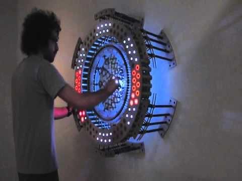 Кинетическая световая инсталляция - Kinetic lighting installation - YouTube