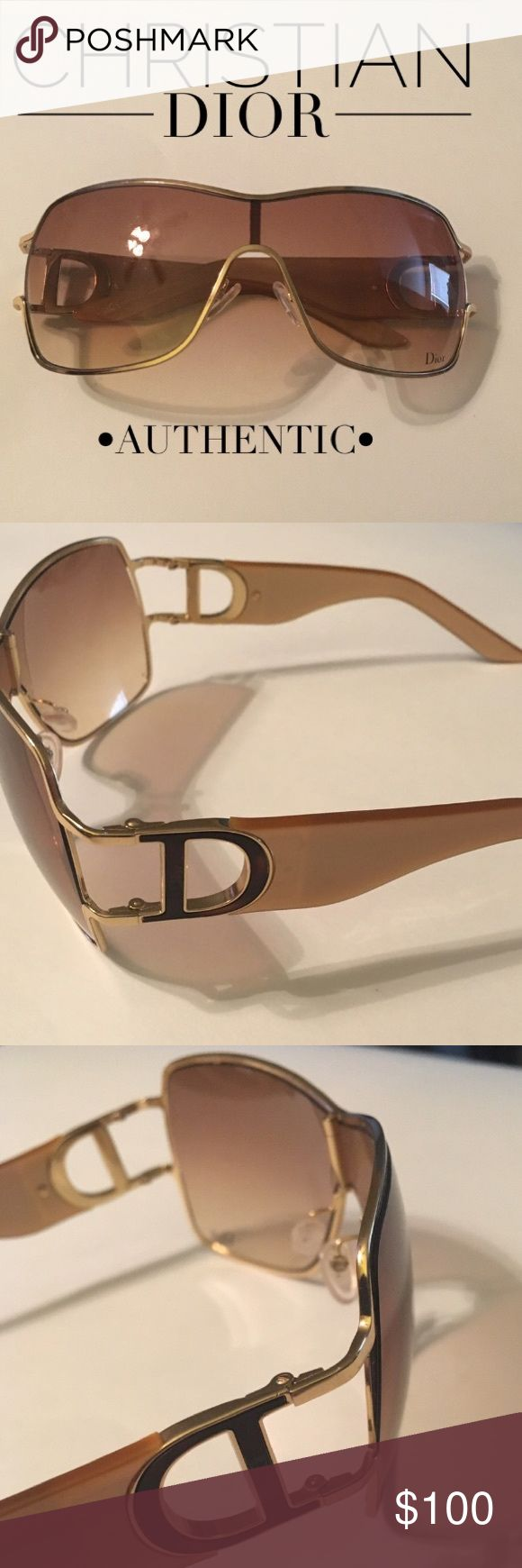 🏆Pearlized Christian Dior Gold Sunglasses 🕶 🏆Gold/Blonde Pearlized Christian Dior Sunglasses 🕶 • Excellent Condition • minimal scratches if any • 100% Authentic • purchased in Dior Boutique in Las Vegas • sorry, no boxes, cases, dustcloths or bags included • fast shipping • Dior Accessories Sunglasses