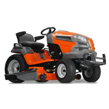 "Husqvarna GT52XLS:We developed our LS series yard tractors with the discriminating landowner in mind. Engineered for added durability, comfort, style and precision, our LS series yard tractors all feature fabricated or reinforced decks and a heavy-duty chassis. The efficient, integrated washout port and optional mulch kit make these models ideal for demanding and extensive use. With speeds up to 8 mph, the ""Fast"" hydraulic transmission allows you to enjoy your free time even more."