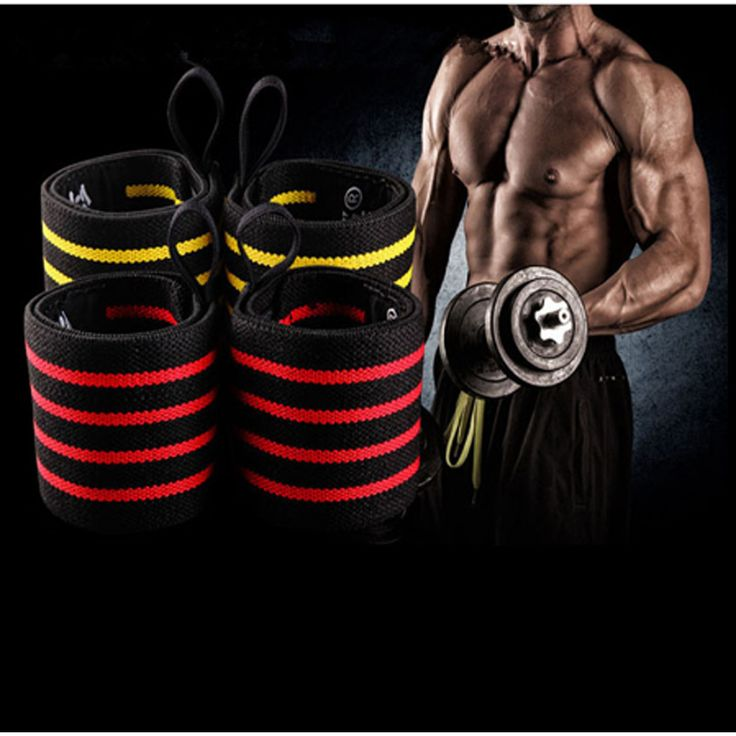 New 1 Pair Gym Weightlifting Training Weight Lifting Gloves Weight Lifting Wrist Bands Straps Wraps Support Hand Protection