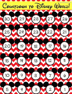Free countdown to Disney World printable (from @Jenna @ JennaBlogs.com)