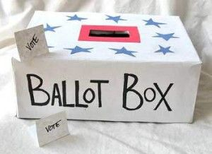 In honor of Presidents' Day, create a ballot box for kids to vote on the next family activity!