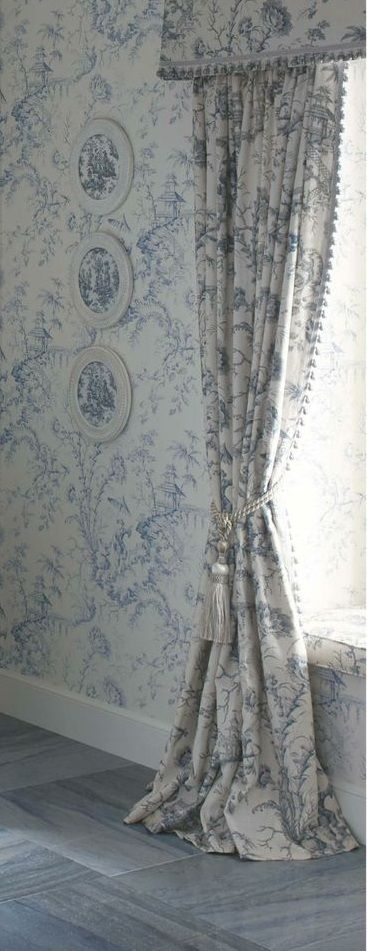 Kohler Tailored Vanities featuring Scalamandre Pillement Toile wallpaper and fabric