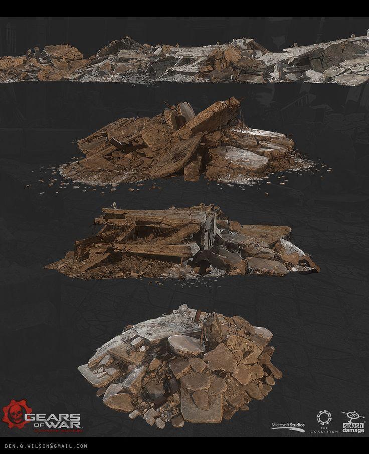 Gears of War: Ultimate Edition, Ben Wilson on ArtStation at https://www.artstation.com/artwork/8BKzE