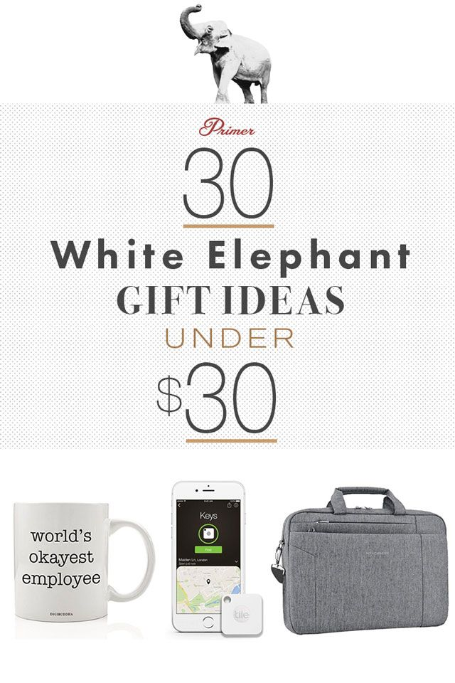 30 Perfect White Elephant Gift Ideas Under 30 White Elephant Gifts Elephant Gifts White Elephant