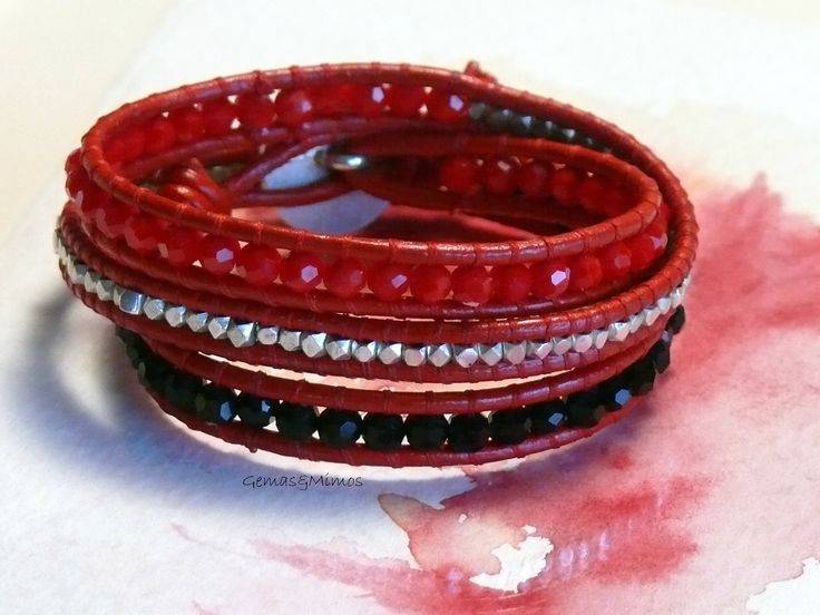 Coral, ónix y baño de plata #jewelry #handmade #gemstones #joyeria #hechoamano #artesania #piedras #wraps #leather #cuero