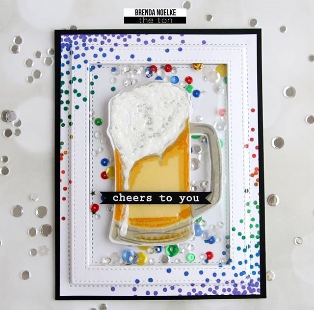 Today is the last day to participate in our Cue Word CHEERS Challenge for this month! Our DT member @mypapercutcreations used our layered Beer set with our Citrine Collection layering inks to make her awesome inspiration card. Head over to our challenge blog for more details on how to win a gift certificate to our shop!! https://thetonchallenge.wordpress.com #theton #thetonstamps #thetonchallenge #cardmaking #papercraft