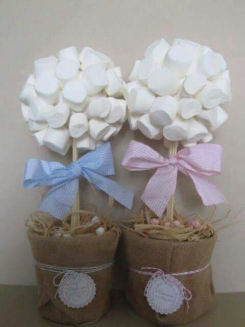 Simple Marshmallow Centerpiece Unknown source; please add if found