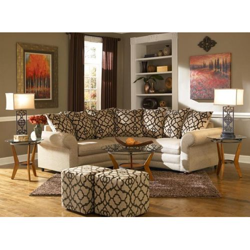 Beautiful Aaronu0027s   Espresso II Living Room Collection 2 Piece Sectional, Ottoman, 2  End Tables, 2 Lamps, Rug