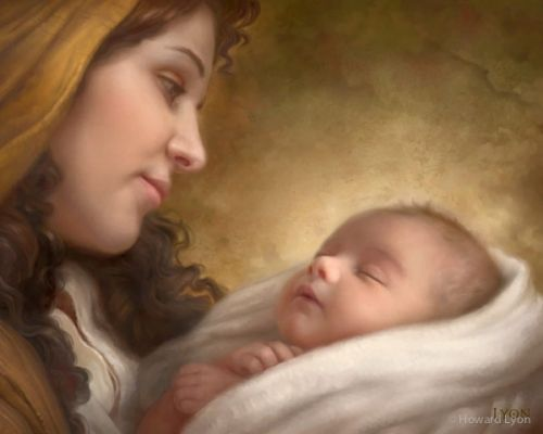 Baby Jesus and Mother Mary