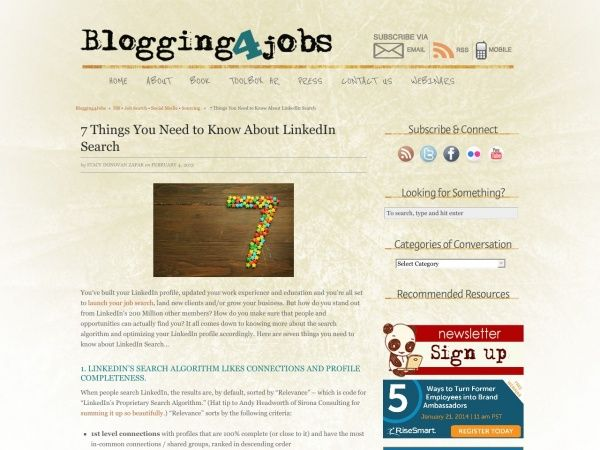 7 Things You Need to Know About LinkedIn Search Blogging4Jobs