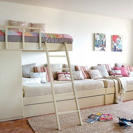 ~❈S❈M❈~ Bottom bed as trundles.... sleeps 5 children in a vacation home. :)
