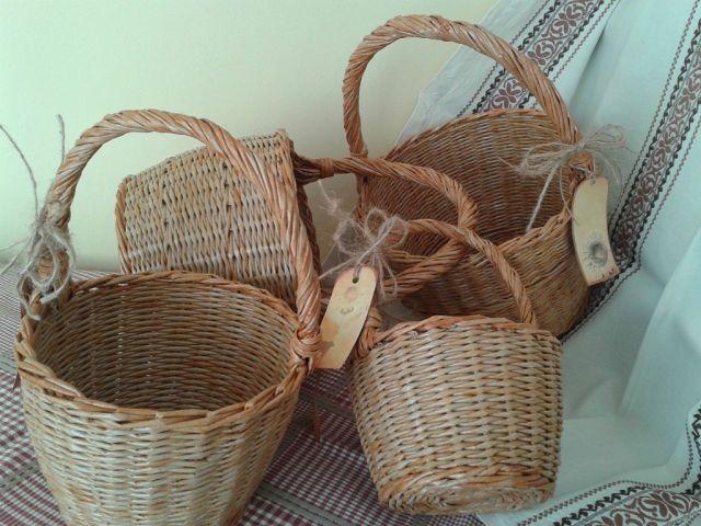 """набор корзинок """"Пшеничный колос"""", плетение из бумаги"""