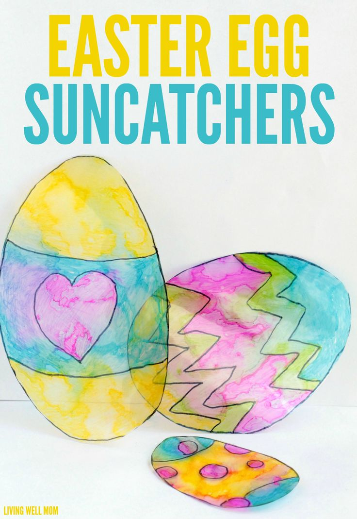 Easter Egg Suncatchers - this easy craft is fun for kids of all ages and a