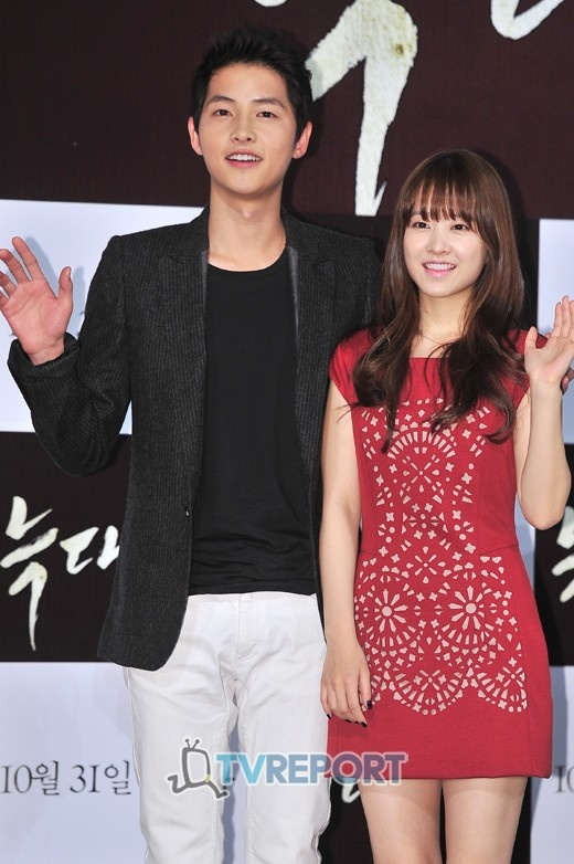 Park Bo Young is stressed about Song Joong Ki's nice skin « KoreaDotCom #songjoongki #kstars