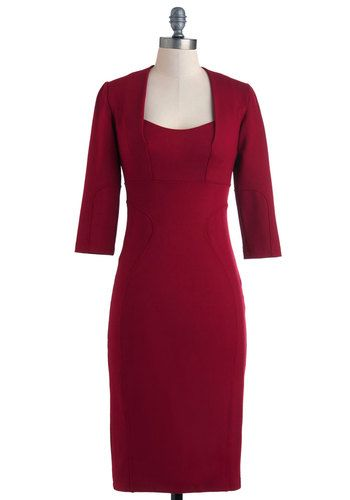 It's a dress that Joan from Madmen would wear. Love the retro vibe!