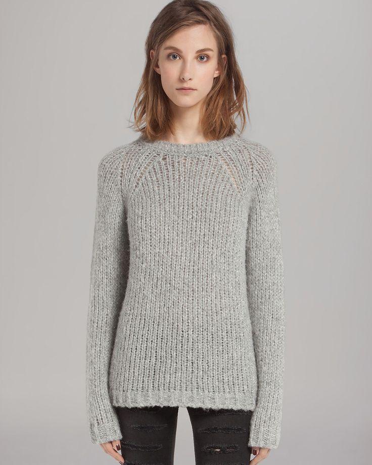 Maje Sweater - Chunky Knit Lurex | Bloomingdale's