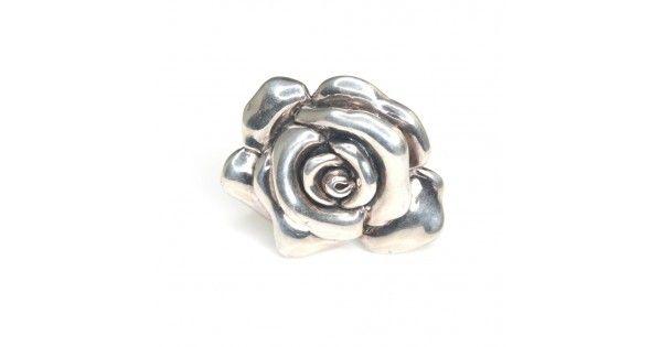 Brosa din argint - Floare de trandafir - Mexic
