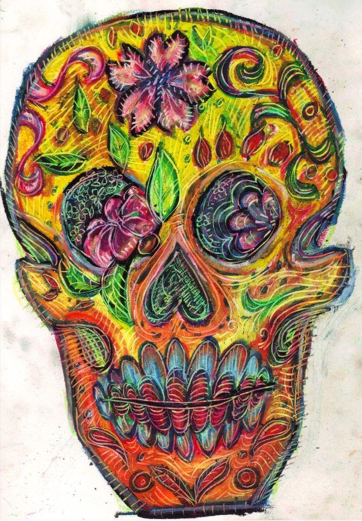 24 best trippy skull tattoos images on pinterest skull tattoos skulls and bones. Black Bedroom Furniture Sets. Home Design Ideas