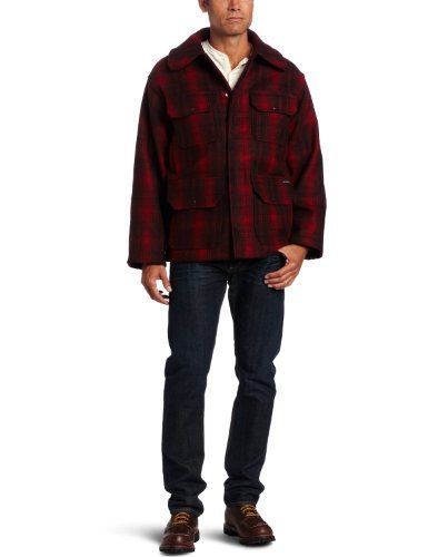 Woolrich Men's Classic Hunt Coat, Red Black Plaid, Medium Woolrich ++ You can get best price to buy this with big discount just for you.++