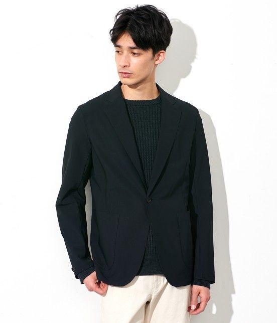 ADAM ET ROPE' ストレッチイージージャケット  ¥16,200(税込) 品番:GMV0703 素材:ナイロン 76% ポリウレタン 24% ノンストレスでさらっと着れるユーティリティイージージャケット。 綺麗なシルエットのジャケットですが、しっかりと入ったストレッチが着心地抜群。 素材も通気性が良く、夏では着難いジャケットも涼しく着れます。 セットアップも良いですがジャケットだけでも着まわしの利く万能性はデイリーユース間違いなし。 綺麗なジャケットを楽に着たい方にオススメです。