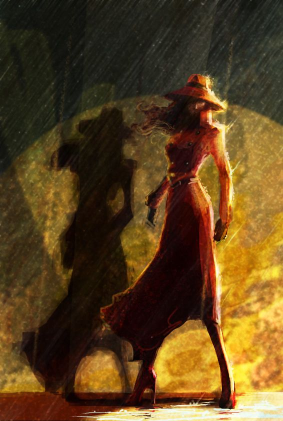 Carmen Sandiego in the Rain by MissingMonuments.deviantart.com on @deviantART