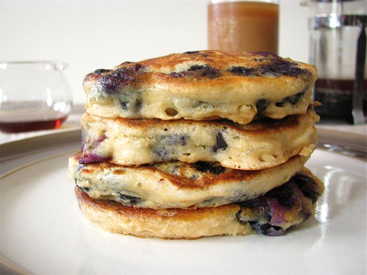 Blueberry Buttermilk Pancakes for One
