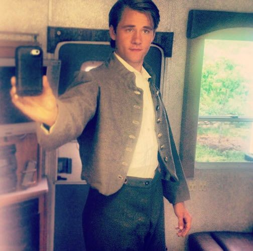 "Nice Luke Benward Working On ""Field Of Lost Shoes"" June 3, 2013"