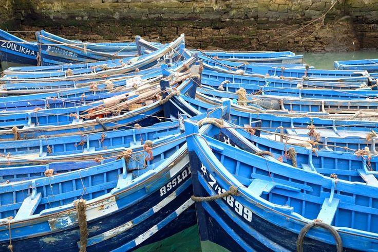 Bateaux bleus du port d'Essaouira