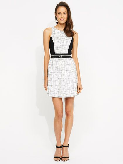 Image for Zip Waist Check Dress from Portmans
