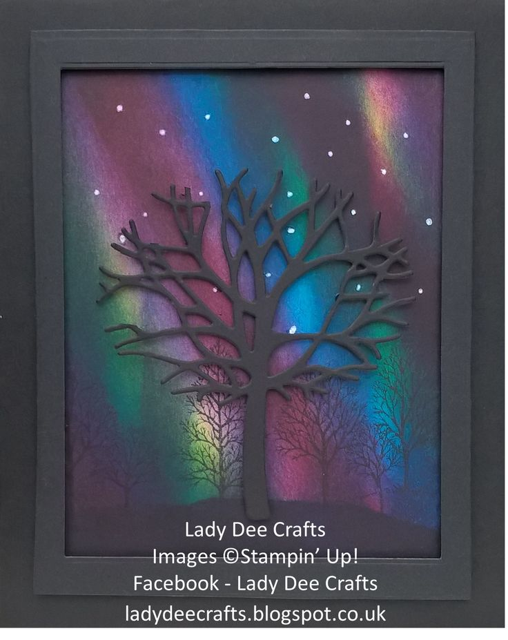 I have been having so much fun in my craft room creating some 'Northern Lights' backgrounds and using my Thoughtful Branches stamp set  a...