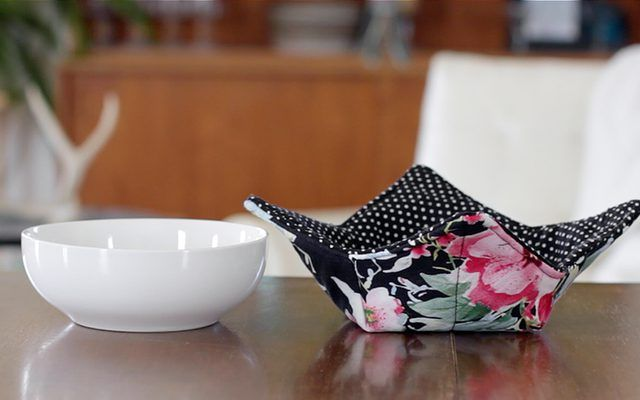 Bring your dining experience to the next level by pairing your favorite bowl with a simple-to-make soup bowl hot pad.