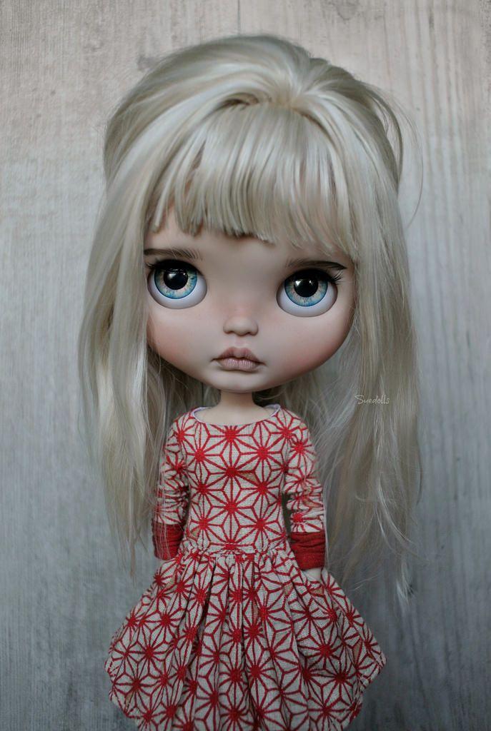 custom Blythe by Sue Dolls on Flickr - dress by Eva