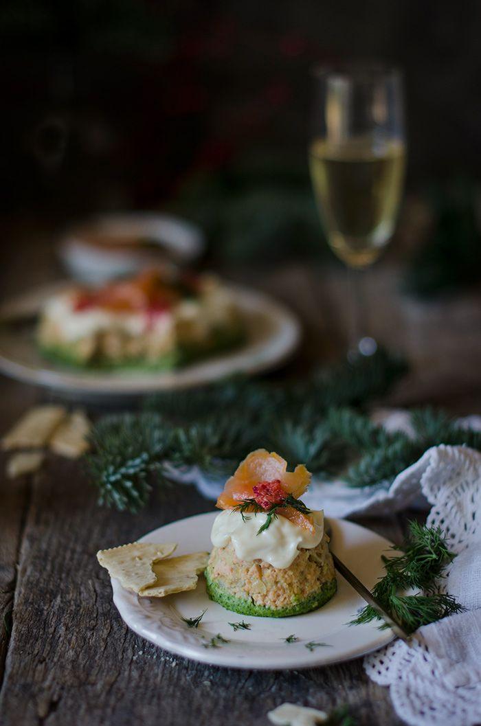 Pastel de Salmón, queso Ricotta y espinacas