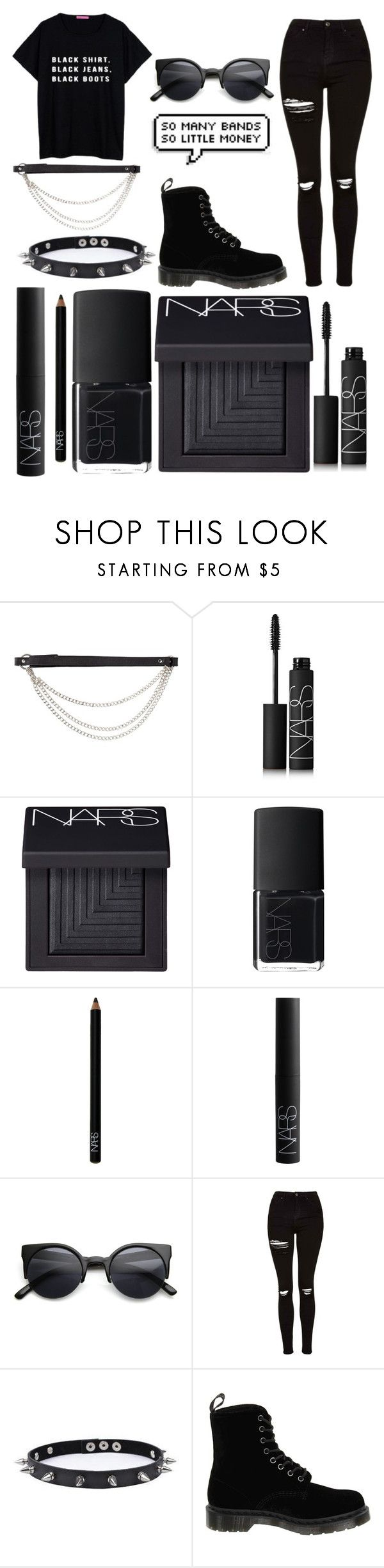 """""""*55"""" by sofspassosd ❤ liked on Polyvore featuring J.J. Winters, NARS Cosmetics, Retrò, Topshop, Trend Cool and Dr. Martens"""