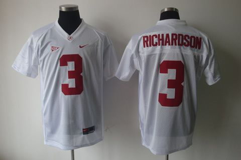 Men's NCAA Oklahoma Sooners #3 Richardson White Jersey