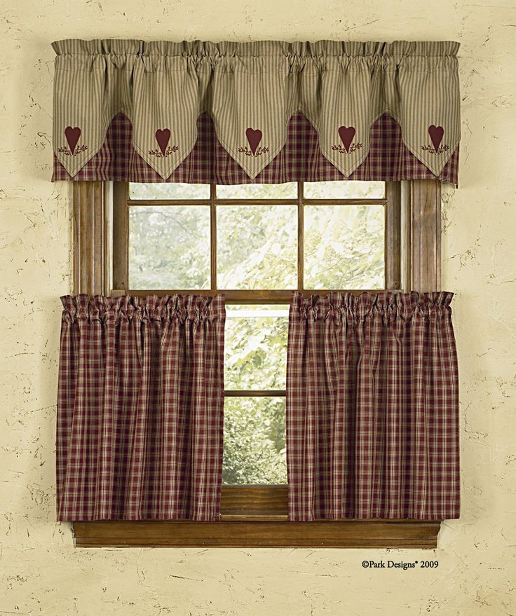 Cortina estilo country ideal para la cocina cortinas for Designs of kitchen curtains
