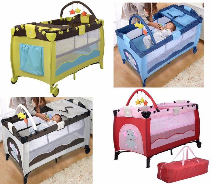 Foldable Baby Playpen Travel Crib Infant Playard Portable Newborn Bed Bassinet  #Unbranded