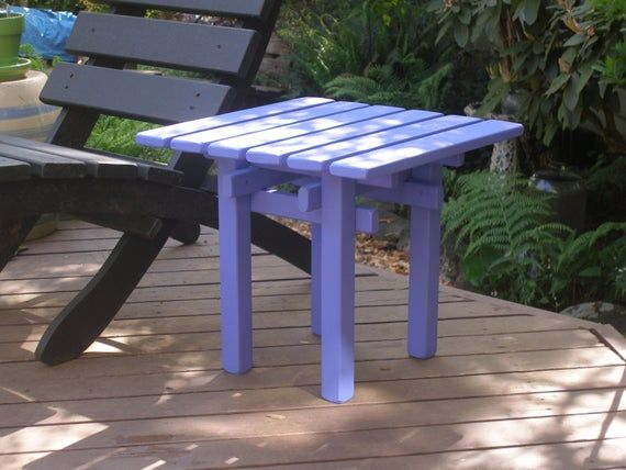 Square Top Wooden Side Tables End Tables 12 Colors Available
