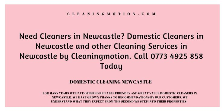 Everyone really wants to keep their houses, offices or areas clean but some people don't have time for you to do this on their own, so now no need to be worried about it. cleaning motion cleaners provide you best cleaning services in the united kingdom. http://cleaningmotion.com/domestic-cleaners-newcastle/