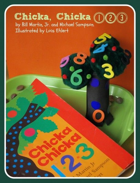 Chicka, Chicka 1, 2, 3 - cute craft for kids learning their numbers