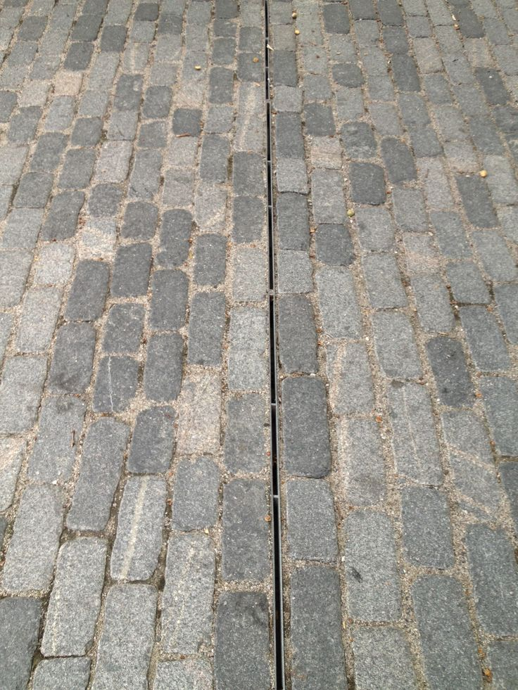 Granite Cobbles With Slot Drain House Landscape Cobbled