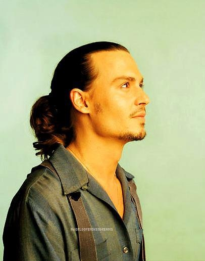 Johnny Depp as Roux in Chocolat. - Side note oh my god.