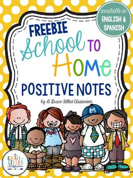 These fun and positive notes are just what you need to let parents know their child is doing great in school! From personal experience, I know that parents like to hear from their kid's teacher when their child is doing well! Plus, these notes are available in English and Spanish!