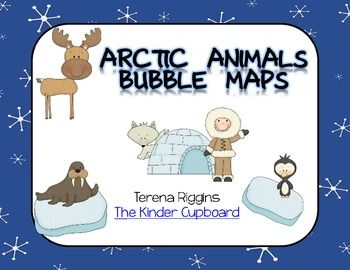 This item includes 20 Bubble Thinking Maps. Each Arctic Animal map comes in color (for your SmartBoard / Projector) and black and white student copies. Arctic Animals include: Polar Bear Arctic Fox Penguin Carbiou Arctic Hare Seal Walrus Arctic Habitat #thekindercupboard #kindercupboard