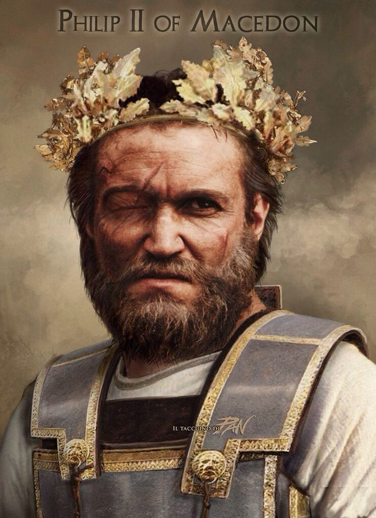 Phillip II of Macedon, portrait from a reconstruction of his face, made from his skull. (382 BC - 336 BC)