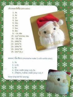 Santa Claus amigurumi free pattern 7