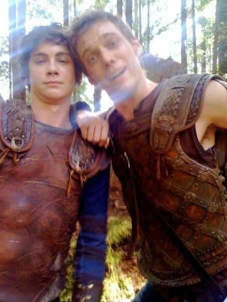 Percy Jackson x Luke Castellan. I love how they're on opposite ends of the energy scale here.