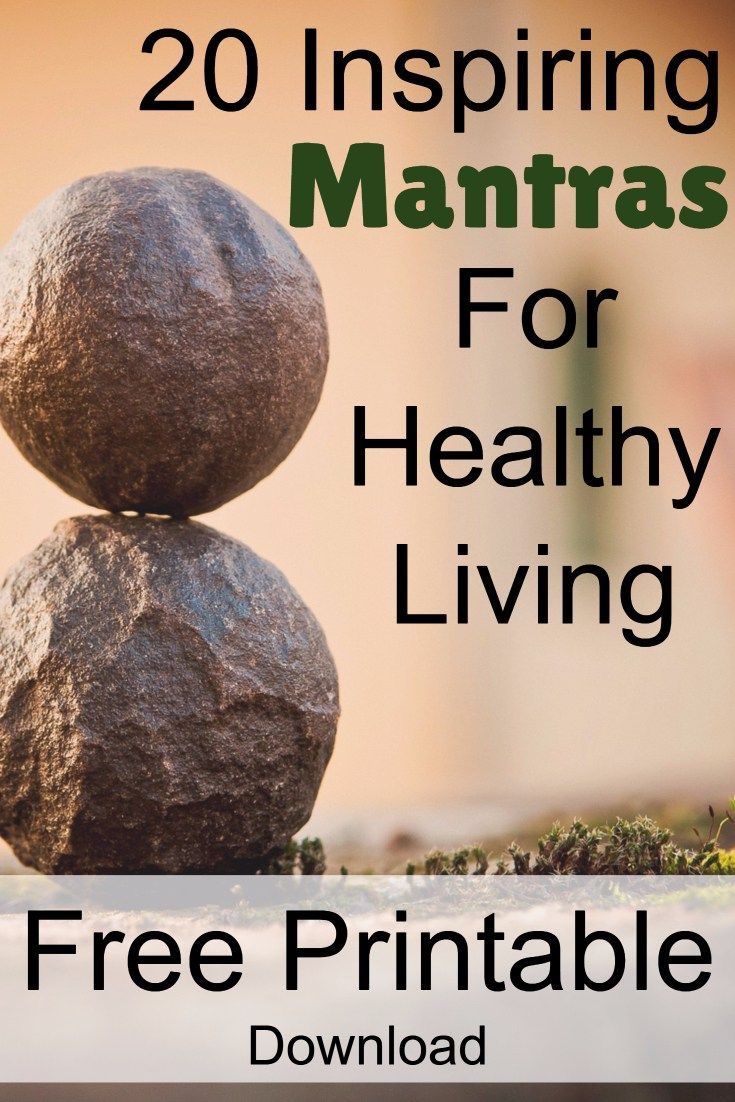 Mantras | Affirmations | Healthy Living | Free Printable | Health |