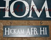 Home is where the Air Force (army, Navy, Coast Guard)sends us & Sign 2 small base signs. $30.00, via Etsy.